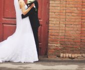 Young newlywed couple. — Stock Photo