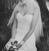 Wedding picture of happy bride. — Stock Photo