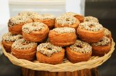 Traditional French puff  doughnuts  for sale — Stock Photo