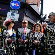 Pearly Kings and Queens raise funds for charity — Stock Photo #74012483