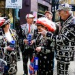 Pearly Kings and Queens raise funds for charity — Stock Photo #74012469