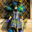 Peacock mask during traditional Carnival. — Stock Photo #75888005