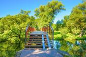 Bridge in the park — Stock Photo