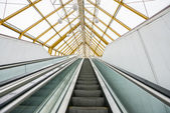 Escalator stairs — Stock Photo