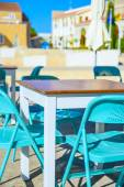 Cafe table outside — Stock Photo