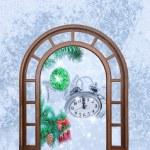 Weihnachten Uhr fünf Minuten — Stockfoto #59206887