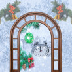 Weihnachten Uhr fünf Minuten — Stockfoto #59206893