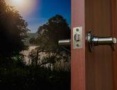 Açık kapı mahallesi — Stok fotoğraf