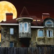 House night and the moon — Stock Photo #71323597