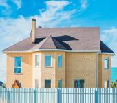 House with a gable roof window — Stock Photo