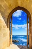 Door open sea — Stock Photo