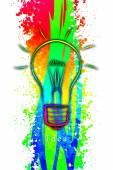 Ideia de negócio de lâmpada — Fotografia Stock