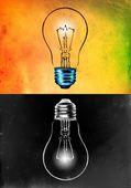 Light bulb business idea — Stock Photo