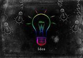 Ideia de negócio de lâmpada — Foto Stock