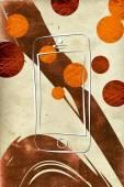 современный смартфон изоляции арт дизайн — Стоковое фото