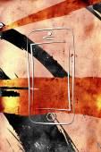 Modern smart phone isolation art design — Stock Photo