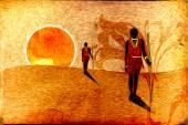 African motive art — Foto de Stock