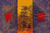 Feng shui stylu sztuki ludowej — Zdjęcie stockowe