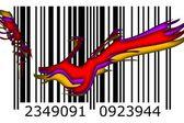 Idea sztuki projektu kodów kreskowych — Zdjęcie stockowe