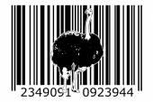 Čárový kód design umění myšlenka — Stock fotografie