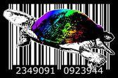 Barcode design art idea — Photo