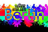 Berlin art design illustration — 图库照片