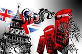 Londen kunst ontwerp illustratie — Stockfoto
