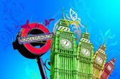 London art design illustration — Stock Photo