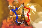 Paris art design illustration — Foto de Stock