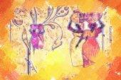 African motive art — Stock Photo