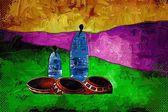 非洲动机艺术 — 图库照片