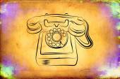 Retro teleohone art illustration — Stock fotografie