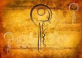 Key icon illustration — Stock Photo