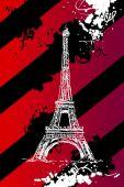 Eiffel tower paris art illustration — Stock Photo