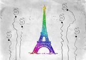 Eiffel tower paris art illustration — Stockfoto