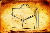 Briefcase art illustration — Stock Photo