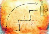 Wine art illustration — Stock Photo