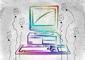 Eski bilgisayar sanat illüstrasyon — Stok fotoğraf
