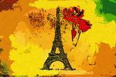 Paris art design illustration — Stock Photo