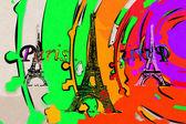 Ilustracja projekt Paris — Zdjęcie stockowe