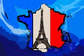 Paris art design illustration — Stockfoto