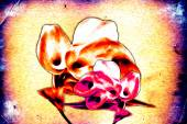 Abstract flower oil painting — Stock Photo