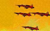 Military airplane speed — Stock Photo