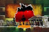 берлинское искусство проектирует иллюстрацию — Стоковое фото