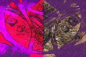 Umění design abstraktní barvy — Stock fotografie