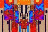 Abstrait couleur design art — Photo