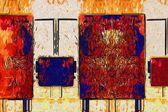 Abstrakte farbe designkunst — Stockfoto