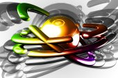 Art abstraction light color — Stock Photo
