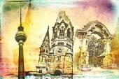 Berlijn kunst ontwerp illustratie — Stockfoto