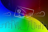 Credit card icon illustration — Fotografia Stock